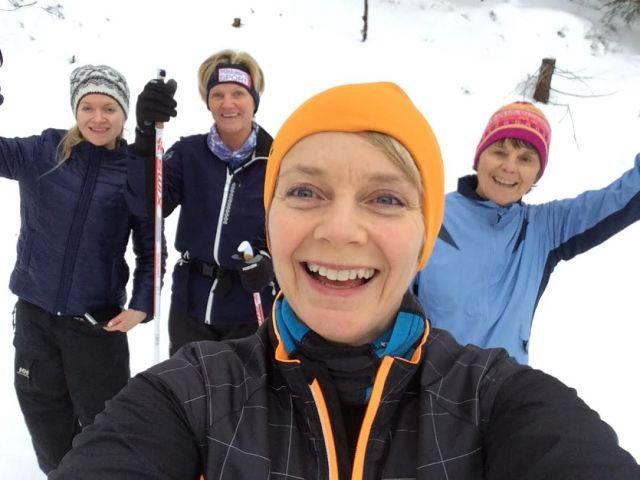 Jærbu på skiteknikk-kurs